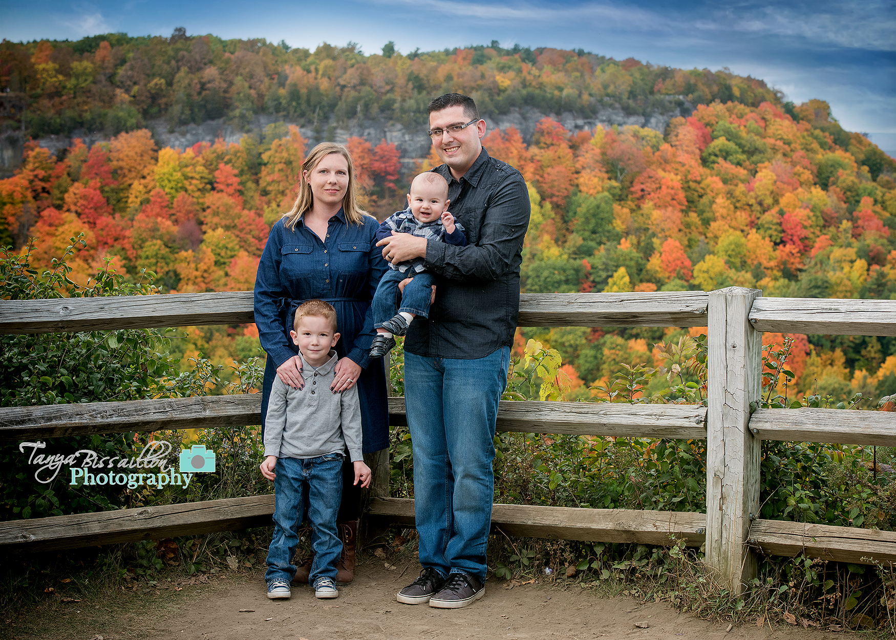 Family photos taken on a beautiful fall day